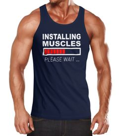 Herren Tanktop Installing Muscles Please Wait Fitness Gym Bodybuilder Moonworks®