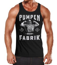 Herren Tank-Top - Pumpen Fabrik - Gym Fitness Sport Muskelshirt Muscle Shirt Neverless®