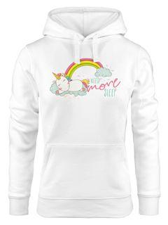 Kapuzen-Pullover Damen schlafendes Einhorn auf Wolke need more sleep sleeping Unicorn Hoodie Moonworks®