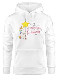 Kapuzen-Pullover Damen Einhorn Ich bin jetzt fertig mit erwachsen werden lass und Einhörner sein Unicorn Hoodie Moonworks®