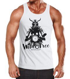 cooles Herren Tank-Top Katze auf Motorrad Neverless®