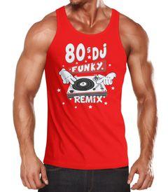 Herren Tanktop Funky DJ Remix Turntables Comic Hands Muskelshirt Muscle Shirt Moonworks®