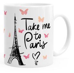 Kaffee-Tasse Take me to Paris Geschenk-Tasse für Frau Freundin Tasse einfarbig MoonWorks®
