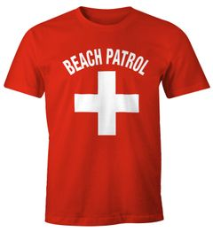 Herren T-Shirt Beach Patrol Fun-Shirt Moonworks®