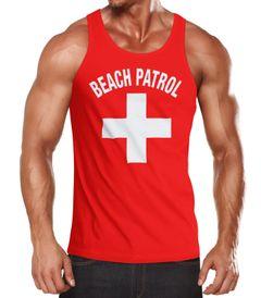 Herren Tanktop für den Strand Beach Patrol Moonworks®