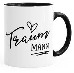 Geschenk-Tasse für Freund Mann Traummann Herz Partner Kaffee-Tasse mit Innenfarbe MoonWorks®