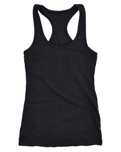 Neverless® Damen Tank-Top Racerback Baumwolle unifarben