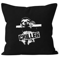 Lustiger Kissenbezug Faultier Born Chiller Sloth Kissen MoonWorks®
