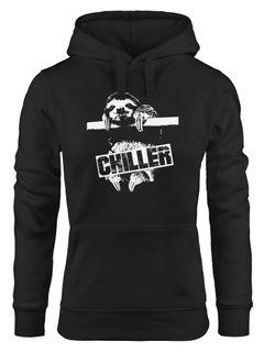 Kapuzen-Pullover Damen Faultier Chiller Sloth Hoodie Moonworks®