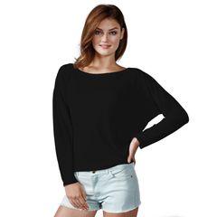 Neverless® Damen T-Shirt mit Fledermausärmeln Oversized-Shirt einfarbig