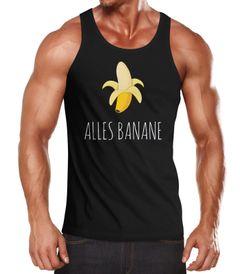 Alles Banane Herren Tanktop Banana Banane Muscle Shirt Hipster Cool Moonworks®