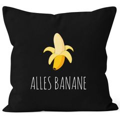 Kissenbezug Alles Banane Kissen-Hülle Deko-Kissen 40x40  Baumwolle MoonWorks®