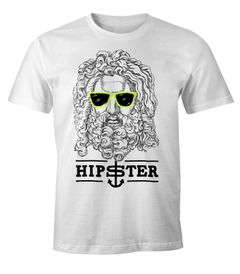 Herren T-Shirt Sokrates Hipster Fun-Shirt Moonworks®