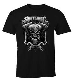 Herren T-Shirt Motorrad Motorblock Moonworks®