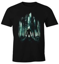 Herren T-Shirt Mystery Monster im Wald Fun-Shirt Moonworks®