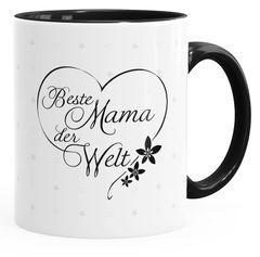 Geschenk-Tasse Herz Beste Mama der Welt Geschenk zum Muttertag Tasse mit Innenfarbe MoonWorks®