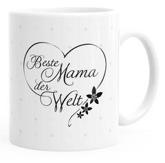 Geschenk-Tasse Herz Beste Mama der Welt Geschenk zum Muttertag Tasse  einfarbig MoonWorks®