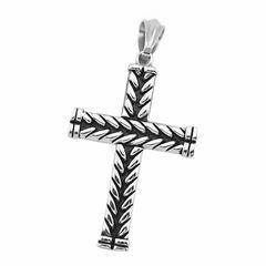 Anhänger Kreuz Edelstahl Halskette Lederkette Kugelkette Damen Herren