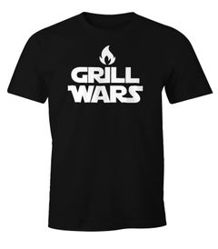 Herren T-Shirt Grill Wars Fun-Shirt Moonworks®