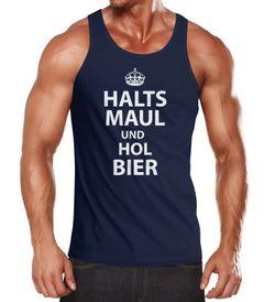 Herren Tanktop Halts Maul und hol Bier Moonworks®