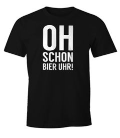 Herren Party T-Shirt Oh schon Bier Uhr Fun-Shirt Moonworks®