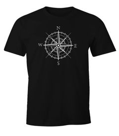 Herren T-Shirt Wind-Rose Kompass Segeln Moonworks®