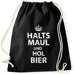 "Turnbeutel ""Halts Maul und hol Bier"" Moonworks®"