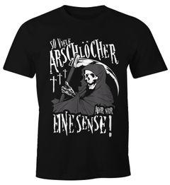 So viele Arschlöcher aber nur eine Sense Herren T-Shirt mit Spruch Moonworks®