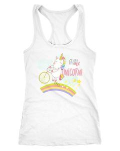 Damen Tanktop Einhorn Trust me I´m a Unicorn Sprüche Spruch Racerback Moonworks®