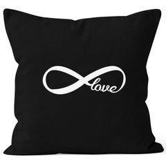 Kissenbezug Infinity Symbol Forever Love Liebe Endless Kissen-Hülle Deko-Kissen 40x40  Baumwolle MoonWorks®