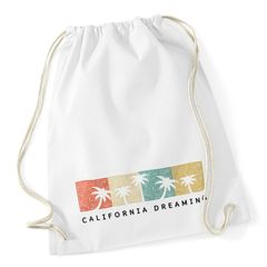 Turnbeutel California Dreaming Summer Party Palmen Palms Retro Vintage Hipster Jutesack Autiga®