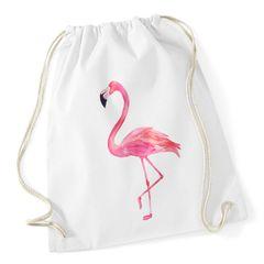Turnbeutel Flamingo Gymsac aus reiner Baumwolle Sportbeutel Drawstring Autiga®