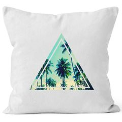 Kissenbezug Foto Print Ananas Palmen Galaxy Sommer Tropical Dekokissen 40x40 Baumwolle Autiga®