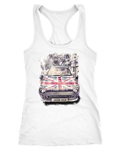 Damen Tank Top London United Kingdomn Car UK Flag Flagge England Great Britain Racerback Neverless®