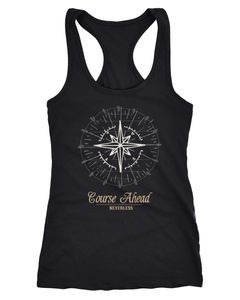 Damen Tank-Top Kompass Windrose Navigator Segeln Racerback Slim Fit Neverless®