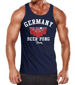 Herren Tanktop Germany Beer Pong Team Bier Moonworks®