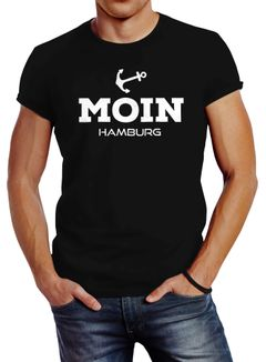 Herren T-Shirt Moin Hamburg Anker Slim Fit Neverless®