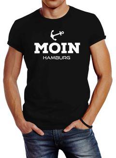 Herren T-Shirt Moin Hamburg Anker Slim Fit Neverless®