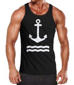 Herren Tank-Top Anker Wasserwelle Muskelshirt Muscle Shirt Neverless®