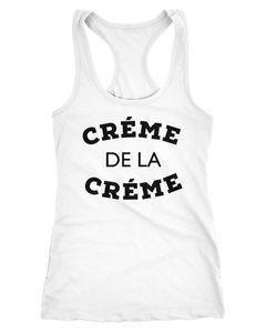 Damen Tank-Top Shirt Creme de la Creme Racerback Moonworks®