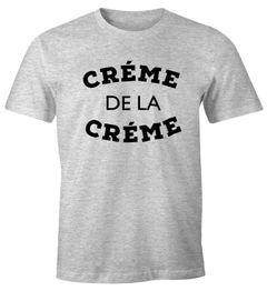 Herren T-Shirt Creme de la Creme Fun-Shirt Moonworks®