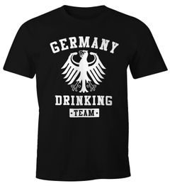 Deutschland Herren T-Shirt Germany Drinking Team Bier Adler Fun-Shirt Moonworks®
