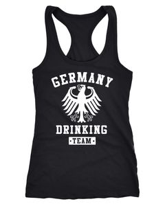 Damen Tanktop Germany Drinking Team Adler Racerback Moonworks®