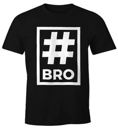 Herren T-Shirt Bro Brother Hashtag Moonworks®