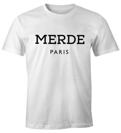 Merde Paris Herren T-Shirt Fun-Shirt Moonworks®