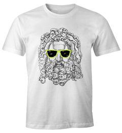 Stylisches Herren Shirt Beim Bart des Sokrates Beard Sonnenbrille Moonworks®