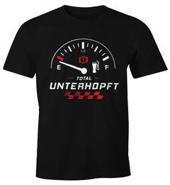 Herren T-Shirt Total Unterhopft Bier Tankanzeige Tacho Fun-Shirt Moonworks®