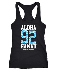 Damen Tanktop Tank Top Aloha Hawaii Summer Palm Leafs Sommer Tropical Shirt Neverless®
