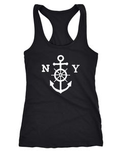 Damen Tank-Top Anker Steuerrad Anchor Wheel Neverless®