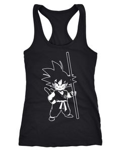 Damen Tanktop Son Goku Child Super Saiyajin Dragonball Z Racerback Tank Top Moonworks®